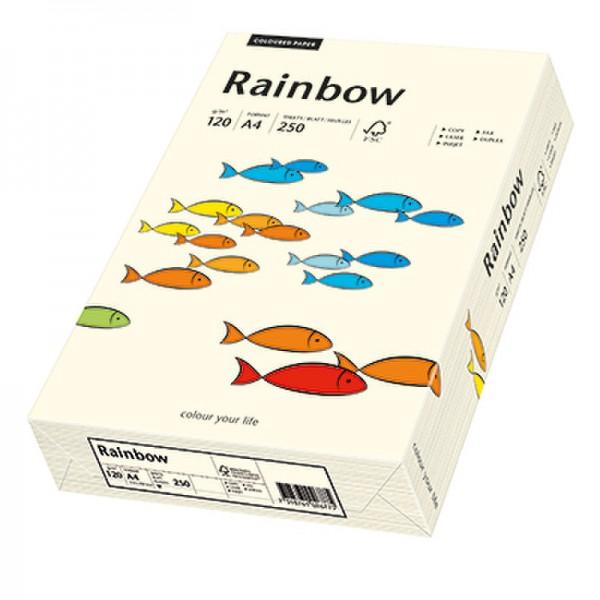 Rainbow Kopierpapier 88042254 A4 120g hellchamois 250 Bl./Pack.