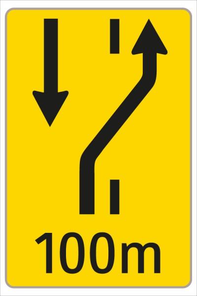 §53/16c Fahrstreifenanzeiger gelb – schwarz W2