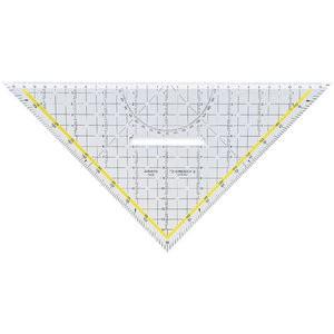 TZ-Dreieck, mit festem Griff, Hypotenuse: 32,5cm, glaskl