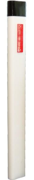 Leitpflock PE. L=1.20 m mit Kappe + Kunststoffrefl