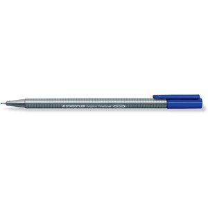 Fineliner, triplus®, mit Kappe, 0,3 mm, Schreibf.: blau