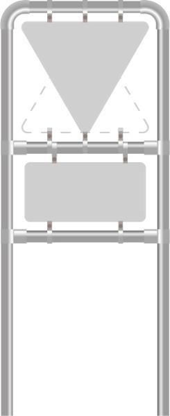 Rohrrahmen X2. f. Seitenlänge: 1000 mm.
