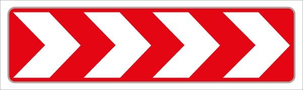 Richtungstafel rot/weiß