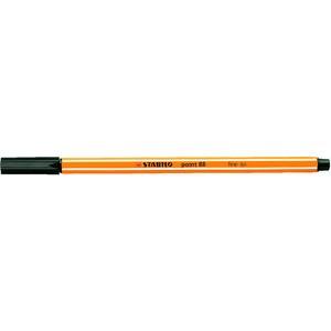 Fineliner point 88®, mit Kappe, 0,4 mm, Schreibf.: schwarz