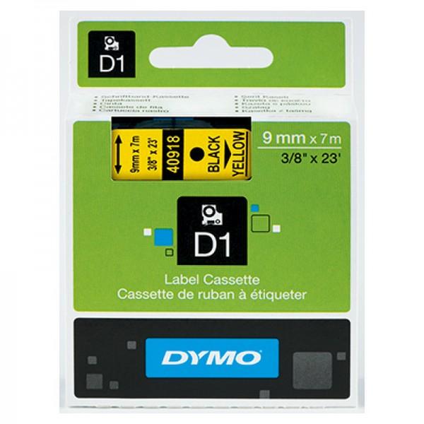 DYMO Schriftbandkassette D1 S0720730 9mmx7m schwarz auf gelb