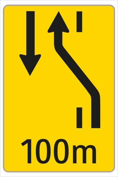 §53/16c Fahrstreifenanzeiger gelb – schwarz W1