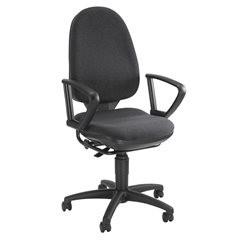 Standard-Drehstuhl, ohne Armlehnen, Rückenlehne 550 mm, Gestell schwarz, Stoff a