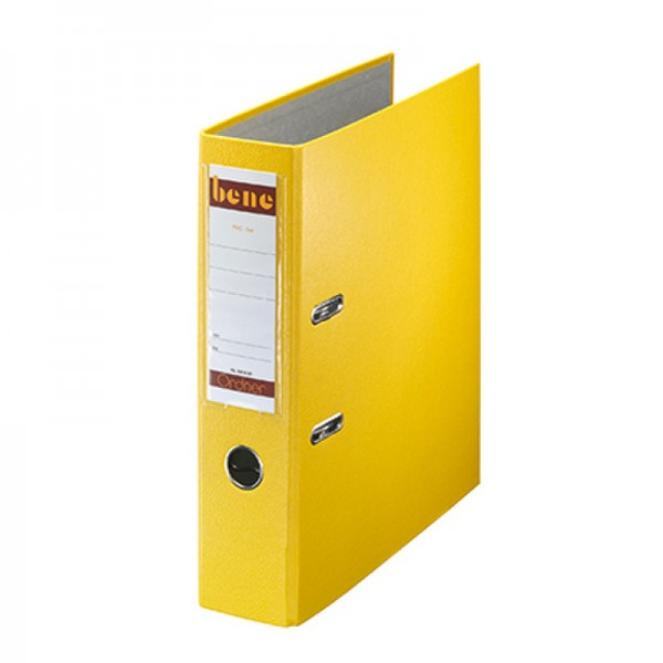 Bene Ordner 291400 GE DIN A4 80mm PP gelb
