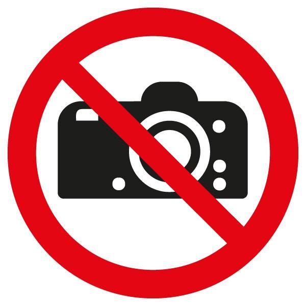 Verbotsschild Fotografieren dm. 400/1.5mm