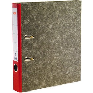 Ordner, Wolkenmarmorpapier (RC), SK-Rückenschild, A4, 50mm, rot