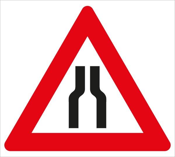 §50/8a Fahrbahnverengung beidseitig