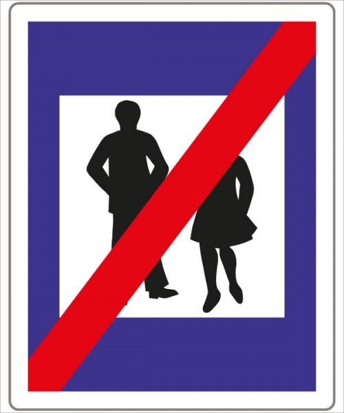 §53/9b Ende einer Fußgängerzone