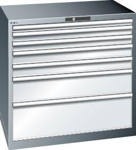 Schubladenschrank grau H1000, 7 Schubl. 79.394.020