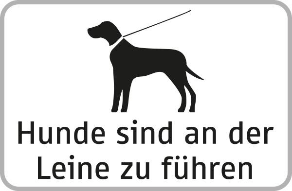 Hunde sind an der Leine zu führen | flaches Verkehrszeichen