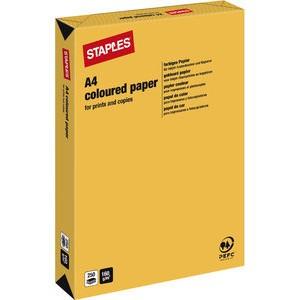 Multifunktionspapier, A4, 160g/m², gold / goldgelb, pastell