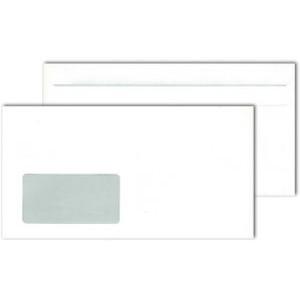 Briefumschlag, mit Fenster, selbstklebend, C6/5, 75 g/m², Offset, weiß