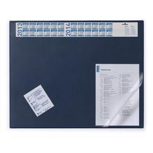 Schreibunterlage, mit Vollsichtauflage, 65 x 52 cm, dunkelblau