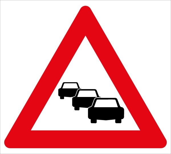 Achtung Stau | C-Sign, gebördelt