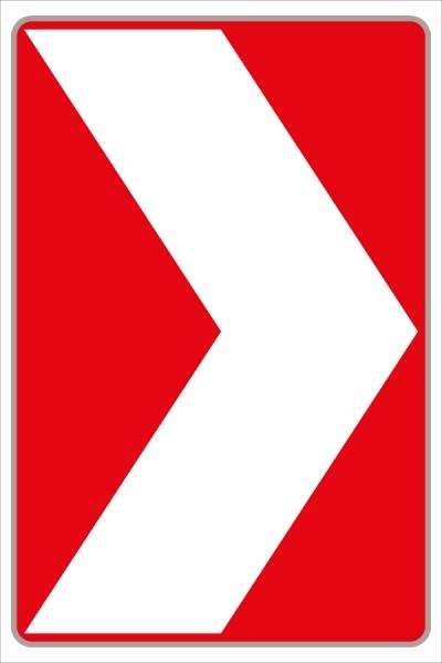 Leitwinkel rot/weiß