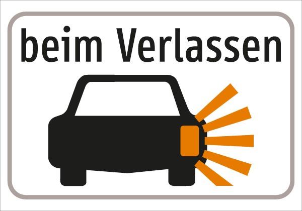 §54/5 Z.T. beim Verlassen + Sym. Auto/Blinker