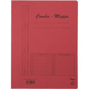 Schnellhefter Comba-Mappe, Karton (RC), A4, rot