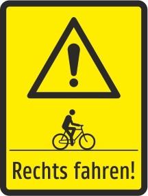 Rechts fahren!