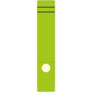 Rückenschild, selbstklebend, Papier, breit / lang, 62x289mm, grün