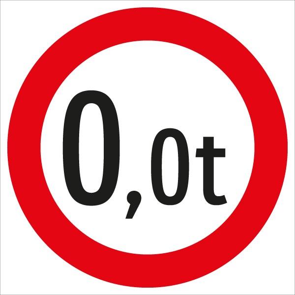 §52/9c Fahrverbot für über 25t Gesamtgewicht | flaches Verkehrszeichen