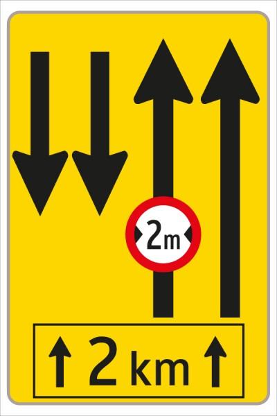 §53/16c Fahrstreifenanzeiger gelb – schwarz F14