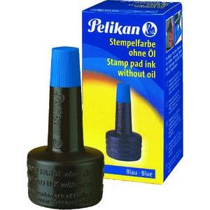 Stempelfarbe, ohne Öl, Typ: 4 K, Verstreicherflasche, blau