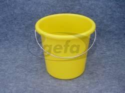 Plastikeimer rund 5l gelb