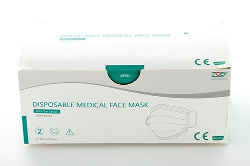 2.000x Mund-Nase-Gesicht Masken dreilagig