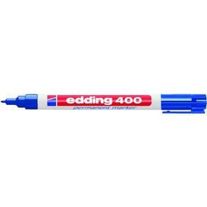 Permanentmarker 400, Rundspitze, 1 mm, Schreibf.: blau