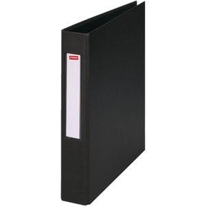 Ringbuch, PP-kasch., A4, 4-R-Reißmech., Ring-Ø: 25mm, schwarz
