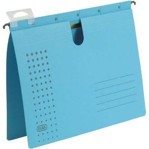 Hängehefter chic, Karton (RC), kaufmännische Heftung, A4, blau