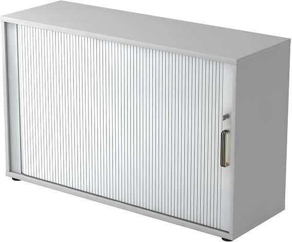 Rolladenschrank 120x40x74,8cm Grau/Silber