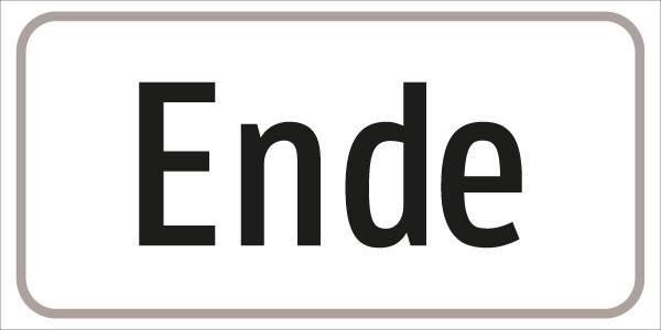 §54/5 Zusatztafel Text: Ende