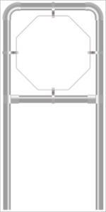 Rohrrahmen C1. 960x960 mm