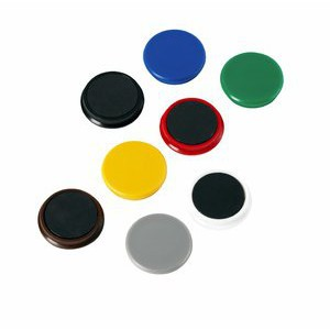 Magnet, rund, Ø: 32 mm, Haftkraft: 800 g, sortiert