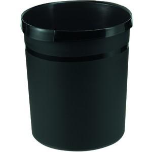 Papierkorb GRIP, PP, rund, 18l, 312x345mm, schwarz