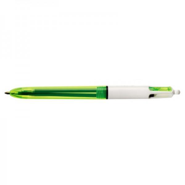 BIC Vierfarbkugelschreiber 4Colours Fluo 933948 bl/sw/rt/neon.ge