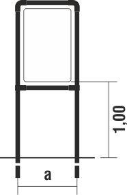 Rohrrahmen Type D4 630x960mm