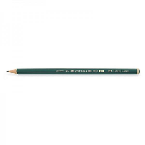 Faber-Castell Bleistift CASTELL 9000 119012 2H dunkelgrün