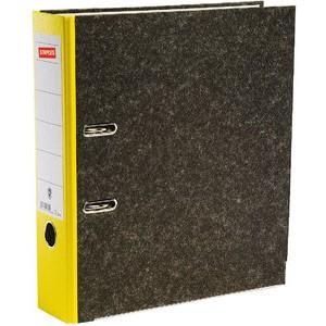 Ordner, Wolkenmarmorpapier (RC), SK-Rückenschild, A4, 80mm, gelb