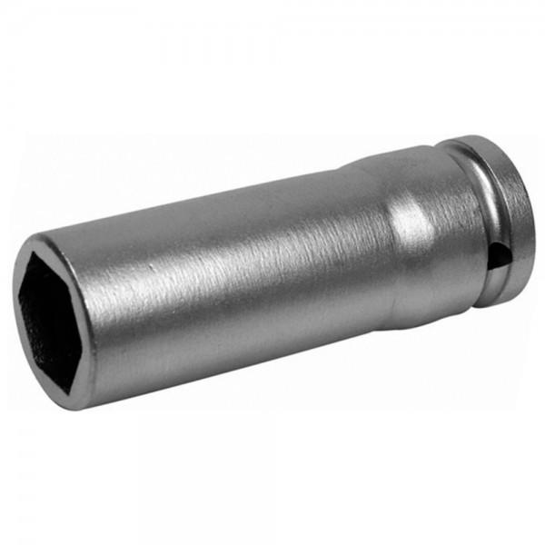 """A-MAG Kraft-Sechskantsteckschlüsseleinsatz 1/2"""", lang, Edelstahl, 27 mm"""