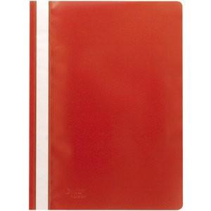 Schnellhefter, PP, transparenter Vorderdeckel, A4, rot