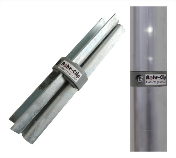 Rohr-Clip für Rst. 76/3 mm - mit Kunststoff-Ring
