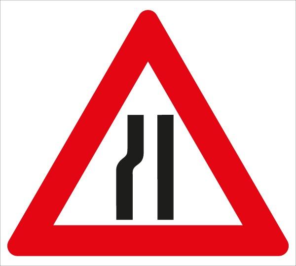 §50/8b Fahrbahnverengung linksseitig