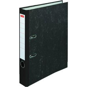 Ordner, Wolkenmarmorpapier (RC), SK-Rückenschild, A4, 50mm, schwarz