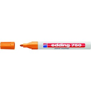 Lackmarker, 750, Rundspitze, 2 - 4 mm, Schreibf.: orange
